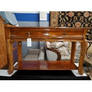 Wood Sofa Table With Two Drawers