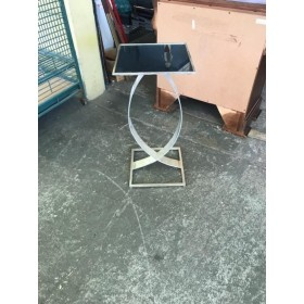 Side Table / Stand With Mirror Top
