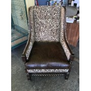 Zebra / Leather Chair