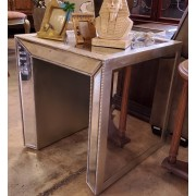 Silver Mirrored End Table