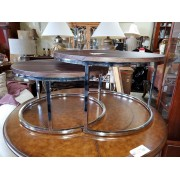 Two Piece Wood / Chrome Coffee & End Table