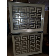 White / Silver Four Drawer Chest