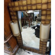 Brown / Gold Vanity Mirror With Lights