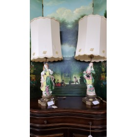 Lady & Man Lamp Set