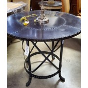 Round Copper Top Table With Fish Feet