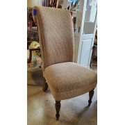 Tall Tan Upholstered Side Chair