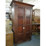 Brown Wood Armoire