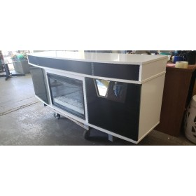 White Fireplace TV Console