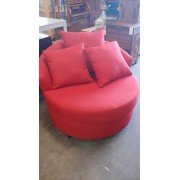 Red Barrel Chair