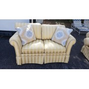 Yellow Striped Love Seat