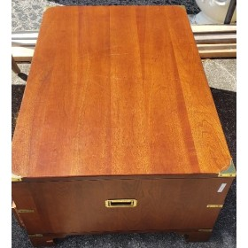Wood / Two Drawer / Gold Hinges Coffee Table