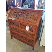 Wood Asian Desk With Chair