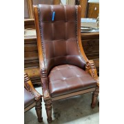 Wood / Brown Upholstered Dining Chair