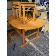 Oval / Teak Butterfly Table
