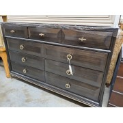 Sayre - Dark Wood Nine Drawer Dresser