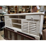 White Louvered Front Sideboard