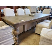 Weathered Wood Dining Table With One Leaf