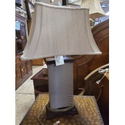 Silver / Brown Lamp With Shade