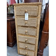 Tall Wicker Lingerie Chest