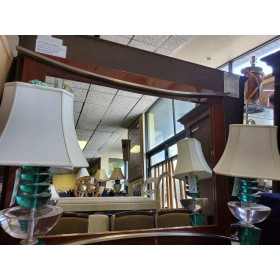Brown Lacquer Buffet / Mirror