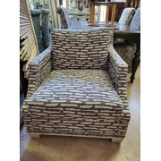 Taupe / Cream Upholstered Chair