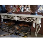 Cream / Marble Iron Console Table