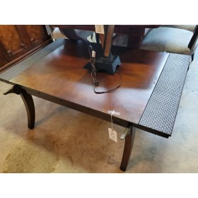 Wood Coffee Table / Woven Ends