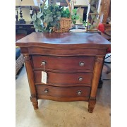 Three Drawer Nightstand With Electric