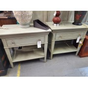 Green Washed Night Stand