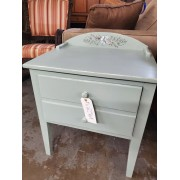 Painted / Pale Green One Drawer Side Table