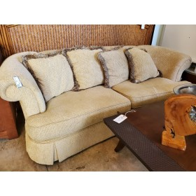 Yellow / Tweed Sofa With Four Pillows