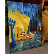 Blue / Gold Cafe Canvas