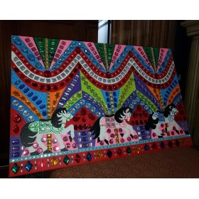 Multi Color Merry Go Round Canvas