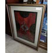 Red Emblem Box Frame Wall Art