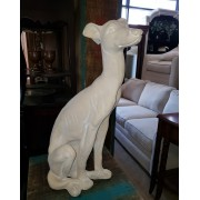 Grey Hound Dog Statue