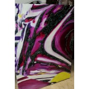 White / Purple Abstract Art