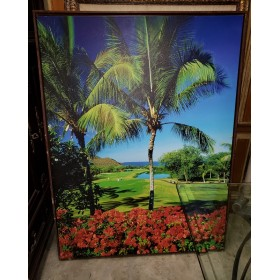 Golf Course / Palm Tree / Canvas