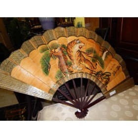 Woven Asian Fan Wall Hanging