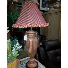 Red / Brown Table Lamp With Shade