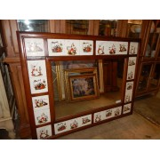 Wood Framed Tile Mirror