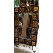 Pier One - Large Floral Square Mirror