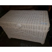White Washed Wicker Trunk