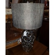 Silver Coral Table Lamp With Black Shade