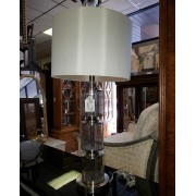 Globe Speckled Glass Lamp