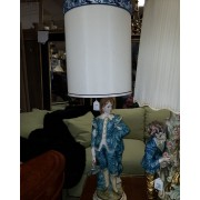 Blue Figural Lady Lamp