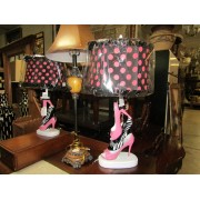 **NEW** Diva - Pink / Black Shoes Table Lamp