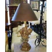Brown Table Lamp / Brown Shade