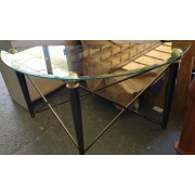 Half Moon / Glass Top Table