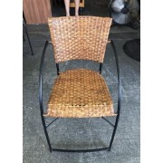Wicker / Metal Frame Chair