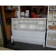 White Storage Headboard